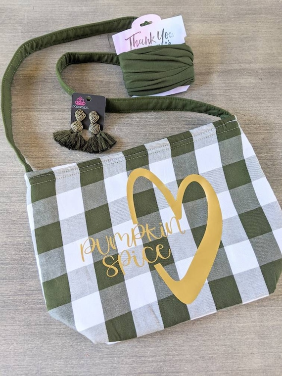 Pumpkin Spice Shoulder Bag n/ Olive Green Bag