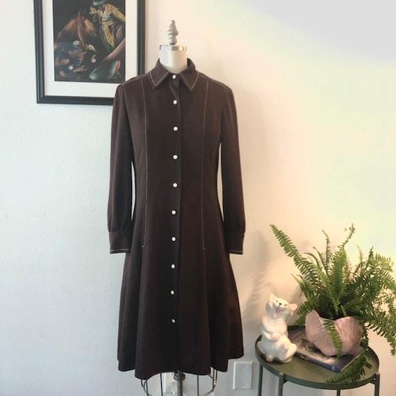 VTG 1970s shirt dress - image 5