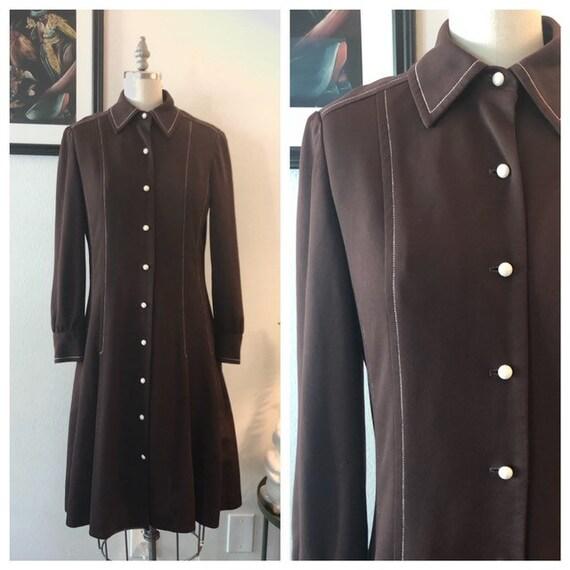 VTG 1970s shirt dress