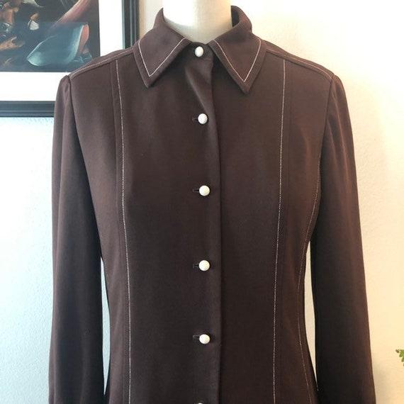 VTG 1970s shirt dress - image 2