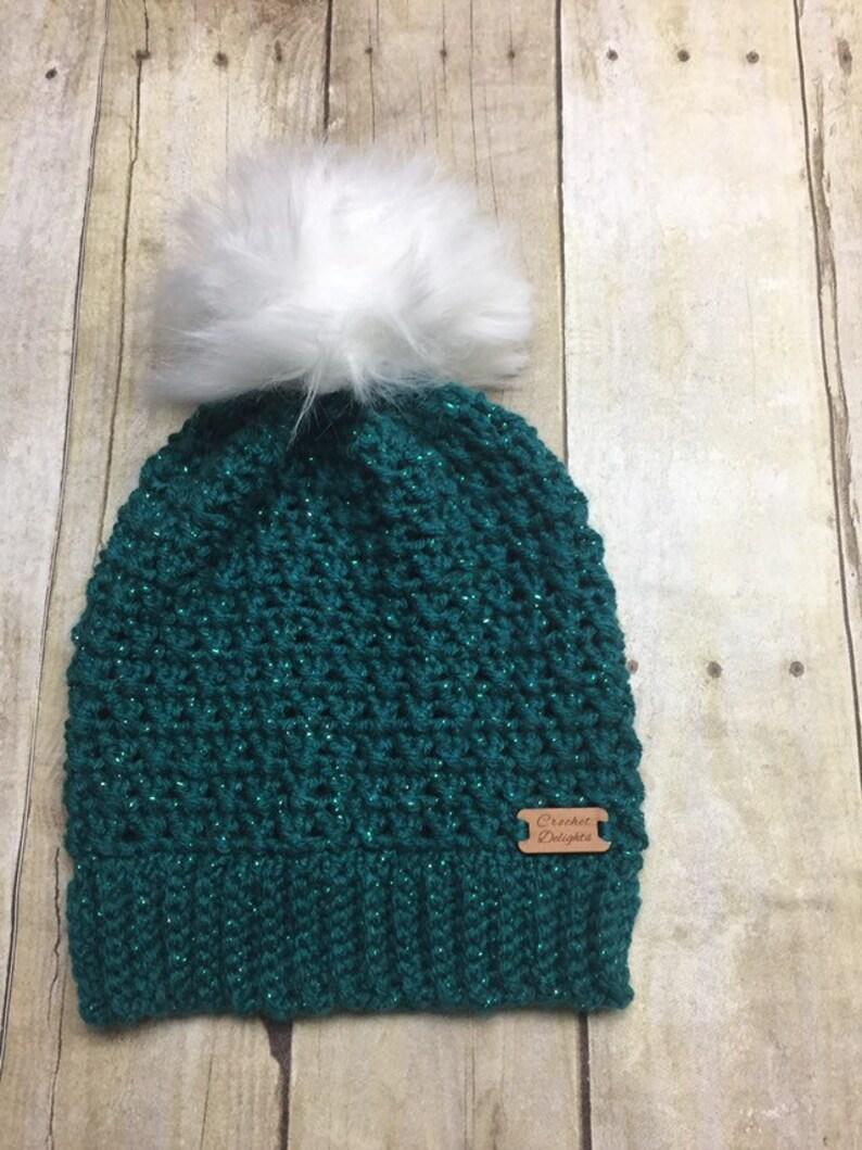 Fur Pom Pom Hat Womens Beanie Girl Hat Winter Hat Faux Fur  ed2acdeddd