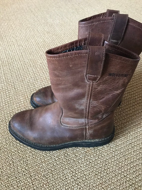 Wolverine Mens Leather Boots/Mens Pull On Boots