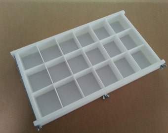 HDPE Soap Mold,18 BAR,5Lb Y-LINE Tray Slab Mold Silicone Candle Casting & Making