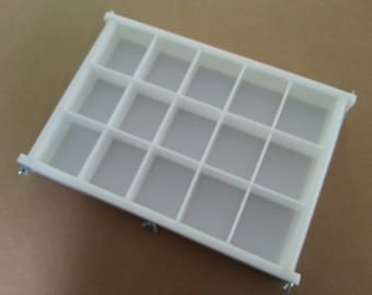 HDPE Soap Mold,15 BAR,4Lb Y-LINE Tray Slab Mold Silicone Candle Casting & Making