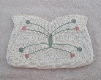 Vintage Beaded Butterfly Purse - Beaded Evening Bag - Vintage Clutch Purse - Made in Belgium Evening Bag