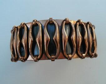 Vintage Renoir Copper Cuff - Mid Century Cuff Bracelet