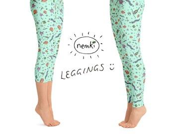 Science Leggings Scientist Leggings Geek Leggings Geek Yoga Pants Scientist Yoga Pants Scientist Women Science Tights Women