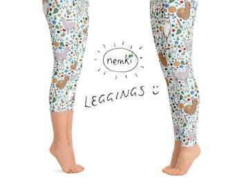 fda8399a5275 Llama Leggings Ladies Llama Leggings for Women Llama Women Llama Clothes  Women Llama Leggings Llama Fashion Llama Yoga Pants