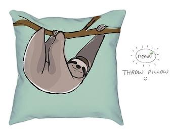 d78e6b3db71 Sloth Pillow Sloth Home Gift Cute Sloth Gift Sloth Design Sloths For Sloth  Lovers Sloth Housewarming Sloth Birthday Gift