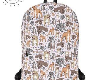 78f1b485b3b7 Pitbull Backpack Pitbulls Rucksack Pit Bull Bag Pit Bulls Gift Dog Backpack  Dog Owner Pitbull Terrier School Bag