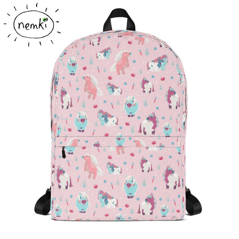 f216ce5ab6 Cute Pink Pony Backpack Ponies Backpack Pretty Horse Backpack
