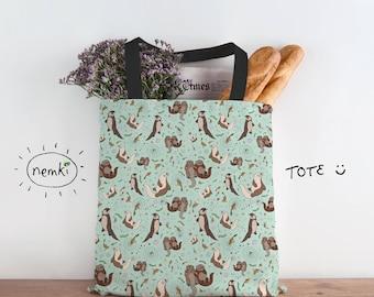 Cute Otter Bag Sea Otter Bag Otter Bag Cute Sea Otter Gifts Cute Otter Gifts Otter Birthday Gift Otter Accessories Cute Sea Otters