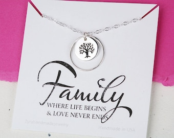 Mother of the Groom gift, Gift for mother in law from bride, mother of the groom, family tree Karma necklace,necklace for mother of groom