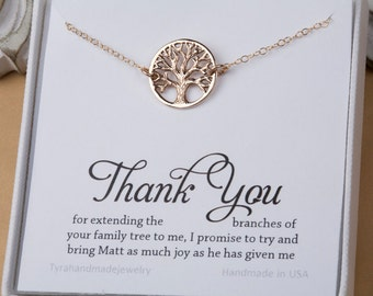 Mother of the Groom gift, Gift for mother in law from bride, mother of the groom, family tree necklace, necklace for mother of groom