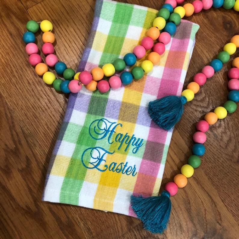 happy easter towel Easter towel easter towel embroidered easter kitchen towel embroidered easter towel towel happy easter easter decor