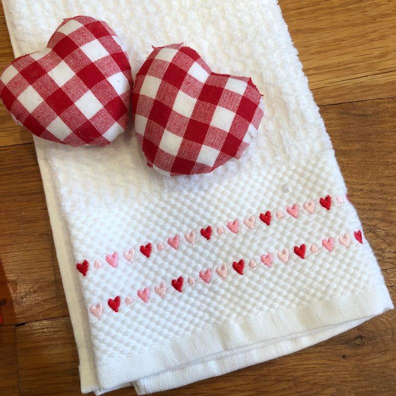 Valentines Day decor personalized valentine towel Valentines hand towel Valentines Day towel Embroidered Valentines Day towel