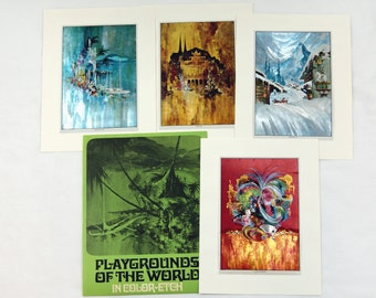 Vintage Frans Van Lamsweerde Playgrounds of the World Color Etch Print Set 2