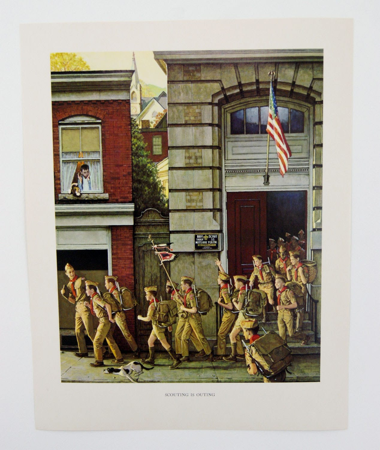Vintage 1960 S Norman Rockwell Scouting Is Outing Boy Etsy