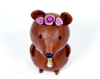 Springtime Bear Figurine  - OOAK