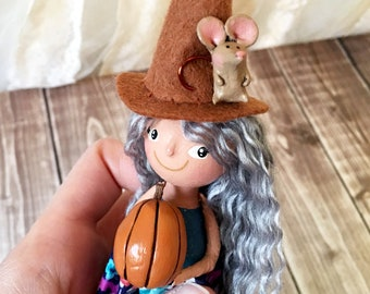 Witchy Friends Ornament - OOAK