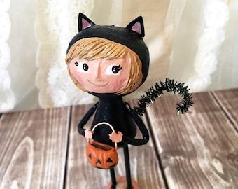 Cat Girl Figurine - OOAK