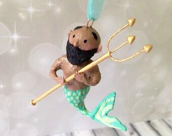 Merman Ornament - OOAK