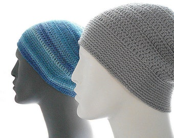 CROCHET PATTERN: The Sock Guy Beanie for Men, Crochet Hat Pattern, Instant Download PDF