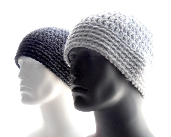 Crochet Pattern The Chunky Guy Beanie For Men Crochet Hat Etsy
