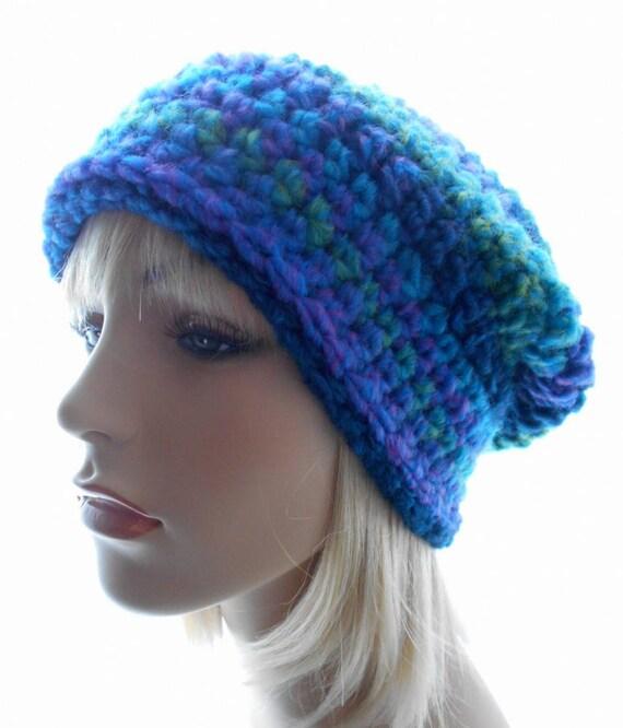 aafb50e7f0f Women s Slouchy Hat Wool Blend Striped Hat Crochet