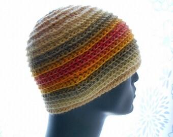 CROCHET PATTERN: The Kioko Beanie for Men and Women, Crochet Hat Pattern, Instant Download PDF
