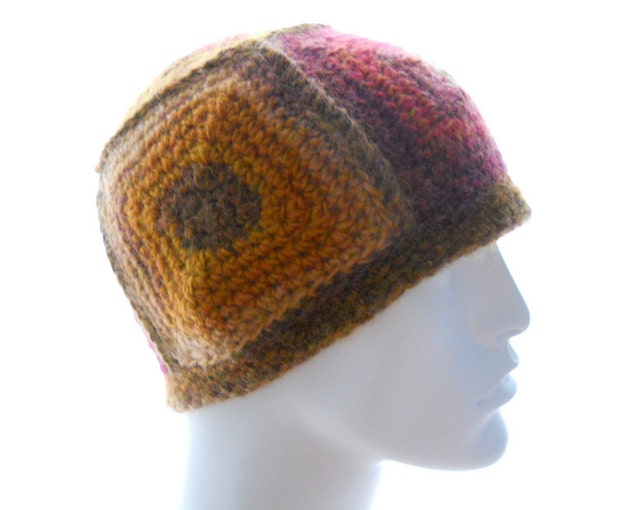 Crochet Pattern The 5 Square Beanie For Men And Women Hat Etsy