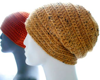 CROCHET PATTERN: The Murf Beanie and Slouchy Hat, Unisex Crochet Hat Pattern, Instant Download PDF