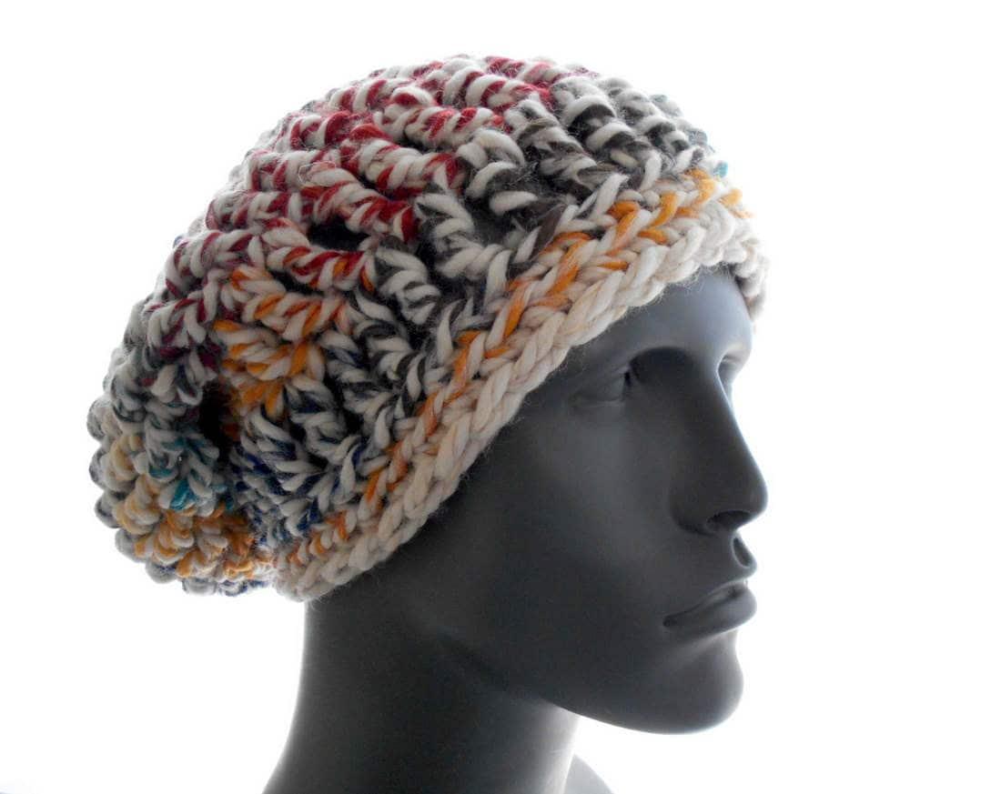 Mens Slouchy Hat Hudsons Bay Crochet Etsy