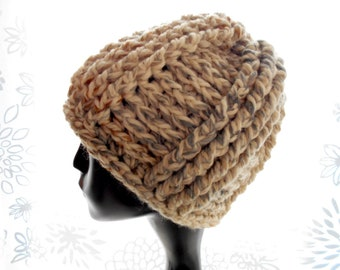 CROCHET PATTERN: The 4x4 Beanie for Men and Women, Hat Pattern, Instant Download PDF