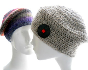 CROCHET PATTERN: The Muffin-Top Beanie Hat Pattern for Women and Men, Instant Download PDF