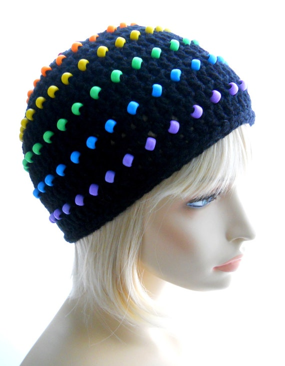 Crochet Pattern The Beadies Beanie Hat Pattern For Men And Etsy