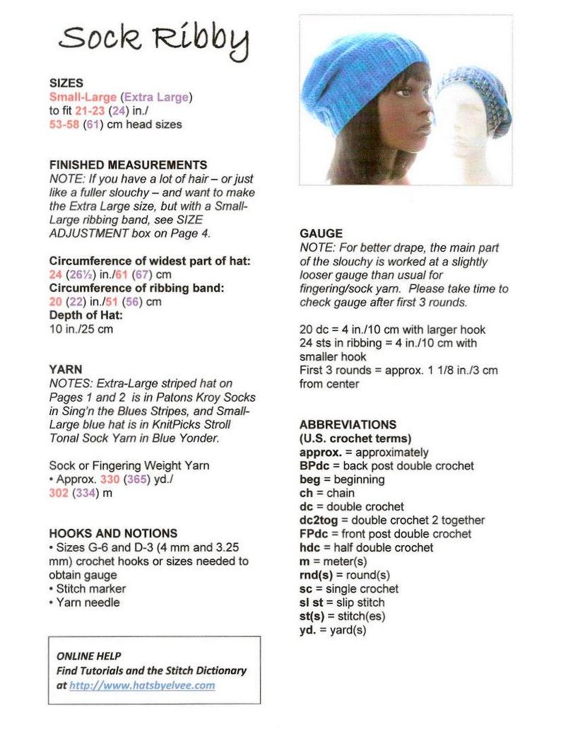 530e4cb4658 CROCHET PATTERN  The Sock-Yarn Ribby Slouchy Hat Pattern for