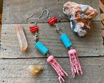 Dangle Octopus Earrings, statement jewelry