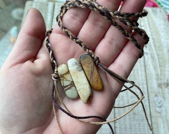 Adjustable Hemp Crystal Necklace