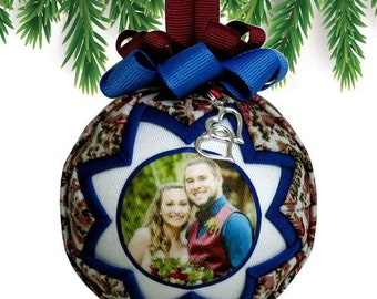 Personalized Christmas Ornaments - Family & Pets - Quilted Fabric Keepsake Gifts - Handmade by Renee