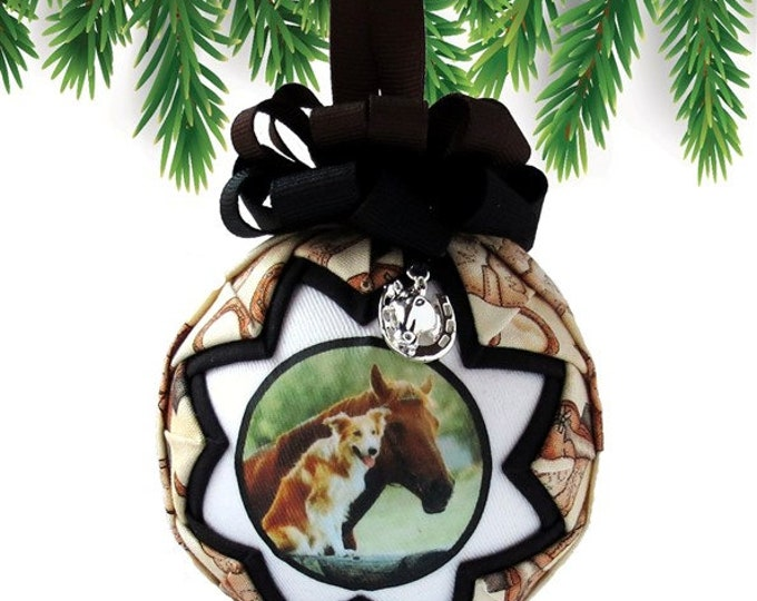 Personalized Pet Christmas Ornament in BROWN & BLACK