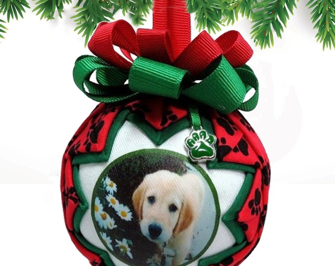 Personalized Pet Christmas Ornament in RED & GREEN - My Most Popular!