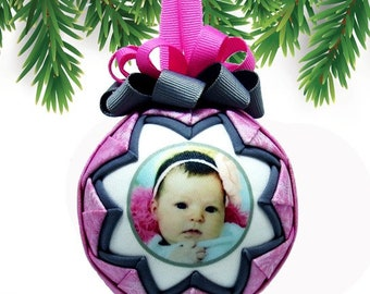 Personalized Baby's First Christmas Ornament in METALLIC PASTELS