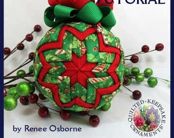 How to Make a Quilted Keepsake Ornament - STAR Design - No Sewing or Gluing - 15 Page PDF Tutorial - DIY - Instant Download