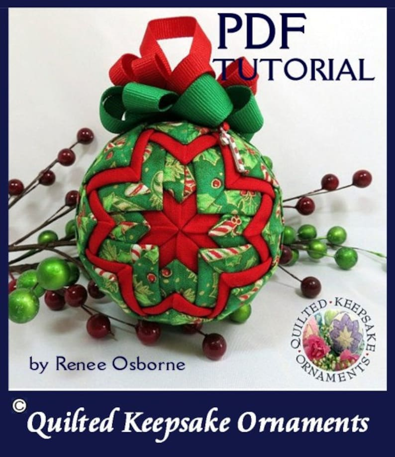 How to Make a Quilted Keepsake Ornament  STAR Design  No image 0