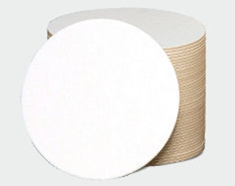 200 Blank Coasters  4 Inch Round  Heavy Weight perfect for Mini Scrapbooks and Letterpress