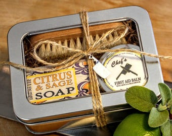 Gift for the Cook / Ready to Ship Chef Gift Tin / Foodie Gift