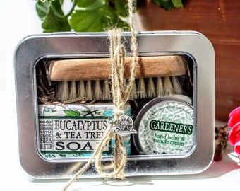 Gardener's Gift Tin / Gardening Gift for Mom / Garden Gloves full Gift Set for Her