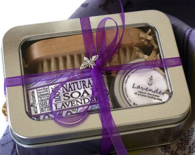 Lavender Gift Tin / Thinking of You Gift for Her