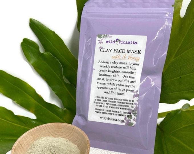 Green Clay Face Mask, Milk & Honey Home Spa Facial, Clay Masks, Botanical Face Steam, Face Brush